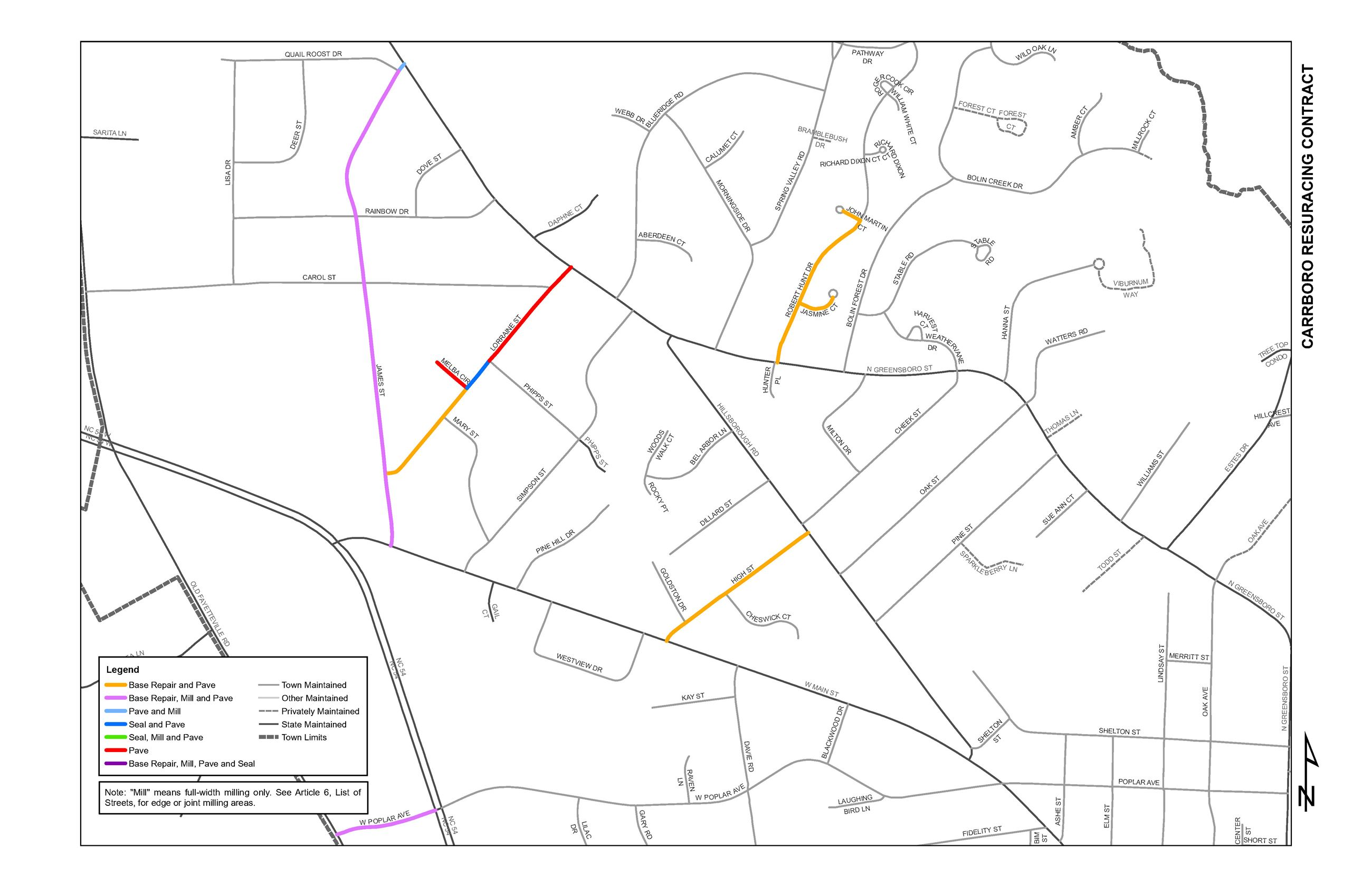 2020 Street Resurfacing Project Map Page 1